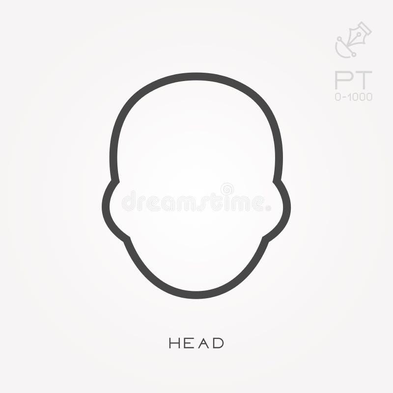 Простая иллюстрация вектора со способностью изменить Линия голова значка бесплатная иллюстрация