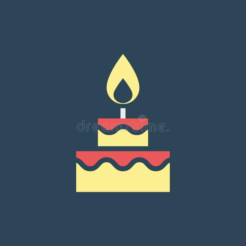 Простая иллюстрация вектора с возможностью изменения Иконовый торт бесплатная иллюстрация