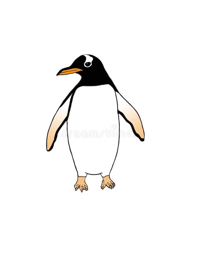 Простая иллюстрация пингвина Gentoo стоковое изображение
