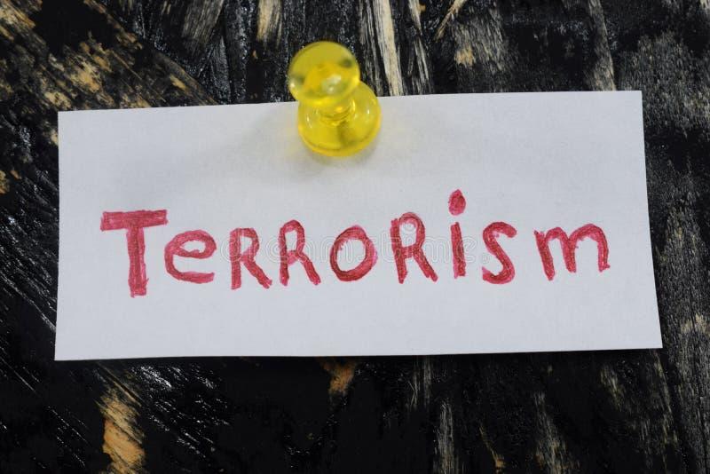Простая и постижимая надпись, терроризм стоковые изображения rf