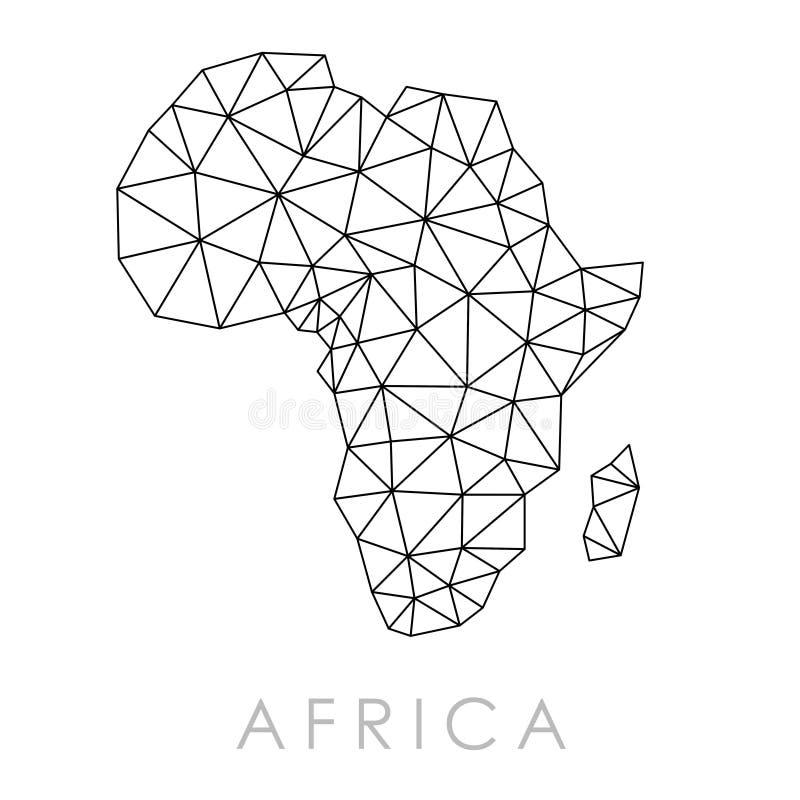 Простая карта Африки иллюстрация штока