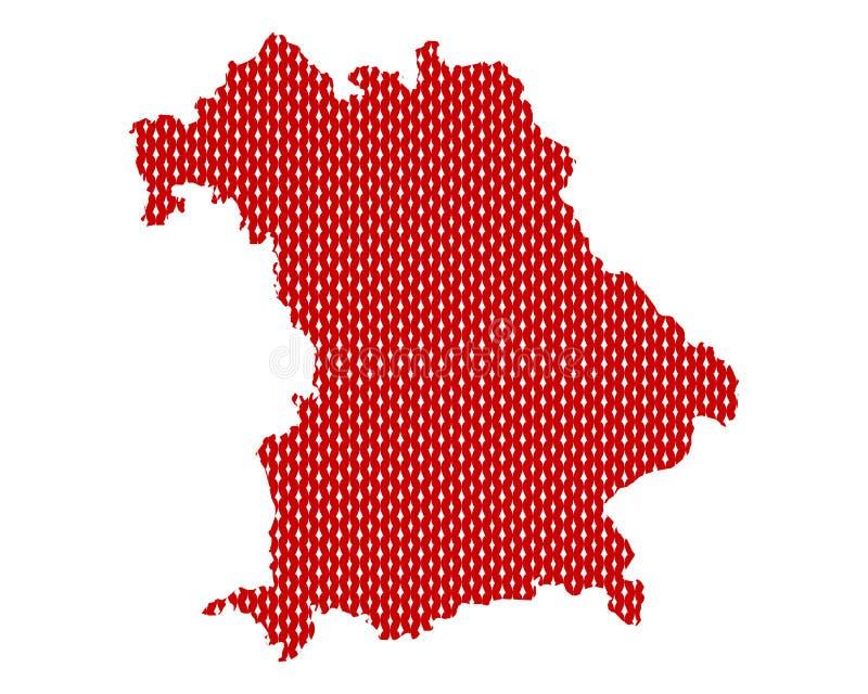 Простая карта Баварии иллюстрация вектора