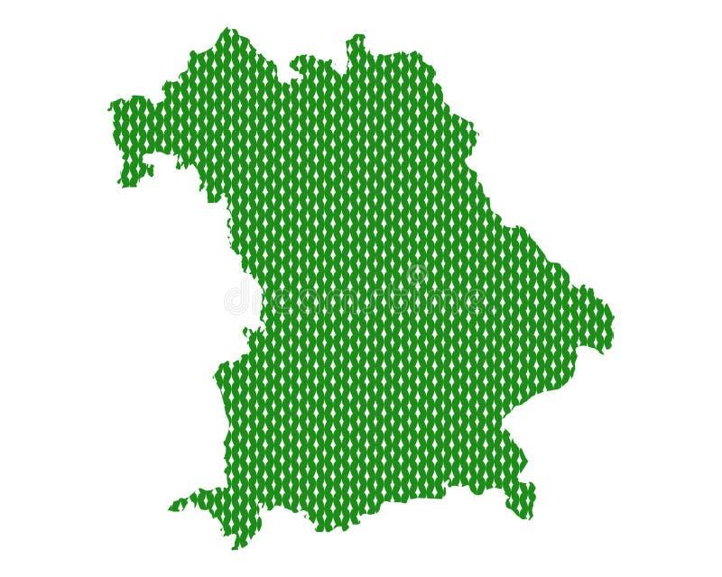Простая карта Баварии иллюстрация штока