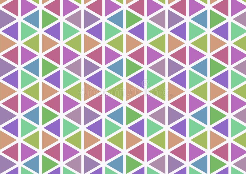 Простая картина треугольника цвета стоковое изображение