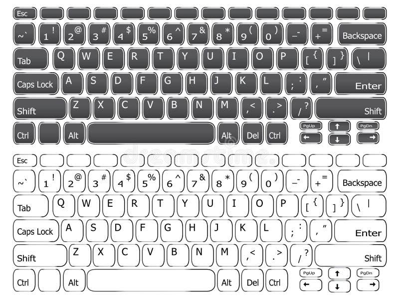 Простая клавиатура компьтер-книжки иллюстрация штока