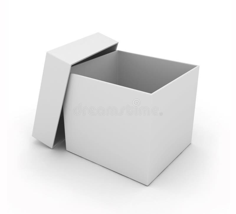 Простая открытая коробка на белизне бесплатная иллюстрация