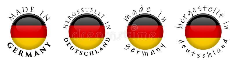 Простая сделанная в Германии Hergestellt в trans Deutschland немецком бесплатная иллюстрация