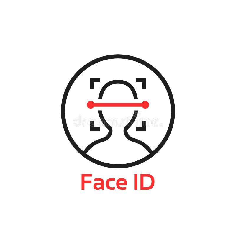 Простая тонкая линия логотип развертки id стороны бесплатная иллюстрация