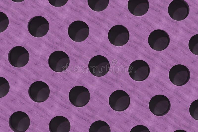 Простая фиолетовая деревянная поверхность с цилиндрическими отверстиями бесплатная иллюстрация