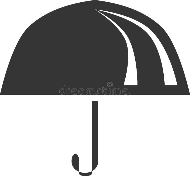 Простая форма значка объекта зонтика бесплатная иллюстрация