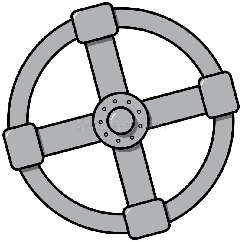 Простое изображение клапана для впуска горючей смеси иллюстрация вектора