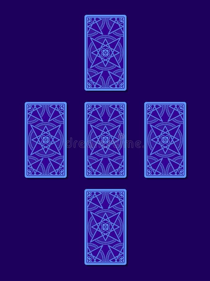 Простое перекрестное распространение tarot Сторона карточек Tarot задняя бесплатная иллюстрация