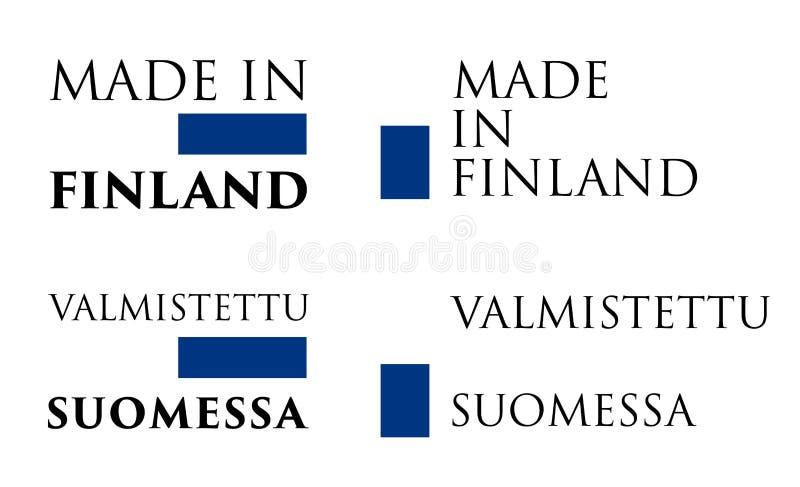 Простое сделанное в ярлыке Финляндии/Valmistettu Suomessa финском T бесплатная иллюстрация