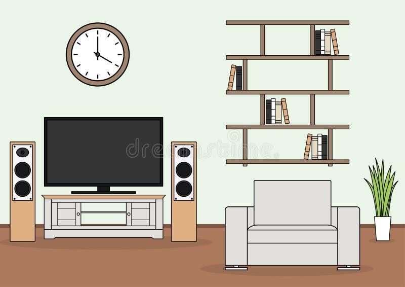 Простой вектор живущей комнаты иллюстрация штока