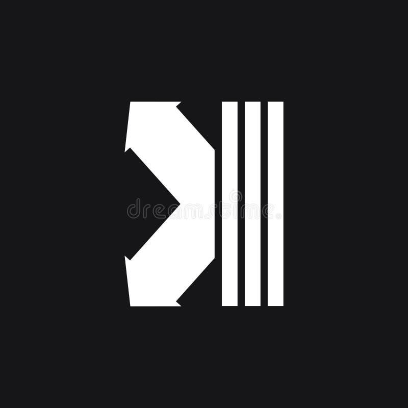 Простой геометрический вектор логотипа стрелки прыжка иллюстрация вектора