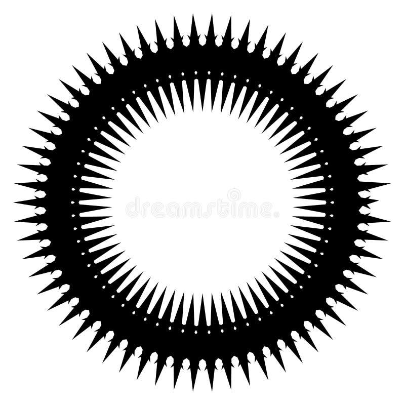 Download Простой геометрический элемент круга изолированный на белизне Иллюстрация вектора - иллюстрации насчитывающей свободно, кругло: 81805253