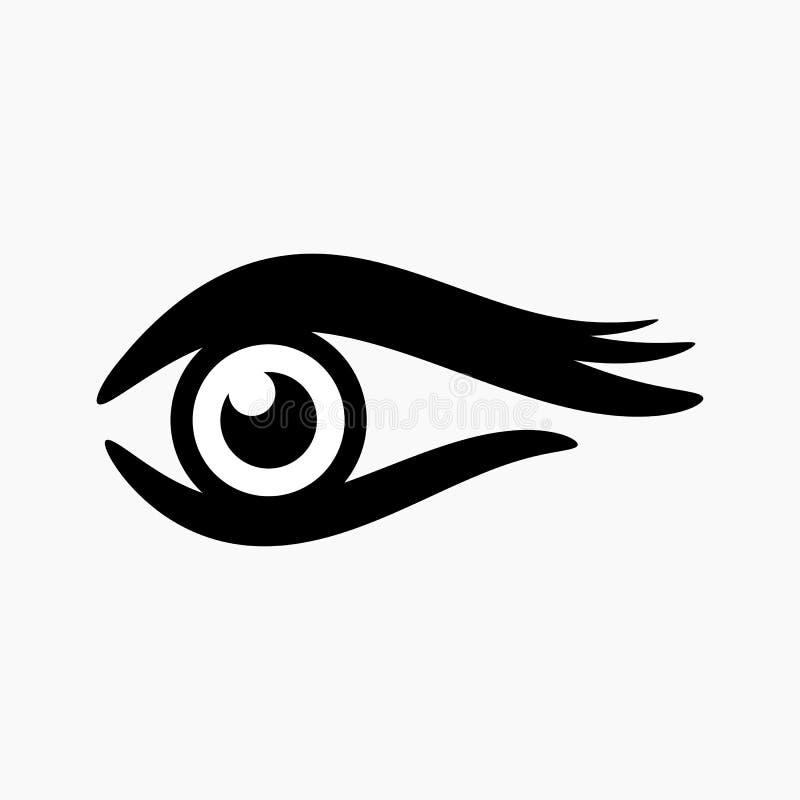 Простой глаз конспекта логотипа с цветом для деловой компании стоковые изображения