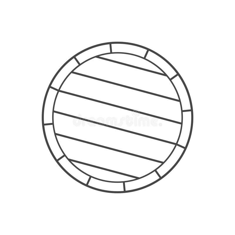 Простой деревянный значок бочонка иллюстрация вектора