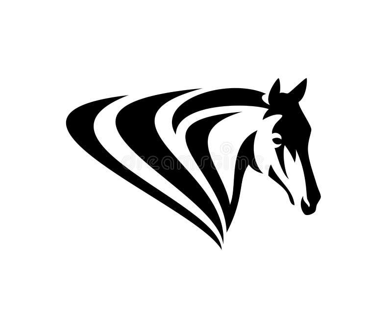 Простой дизайн вектора черноты головы лошади иллюстрация штока
