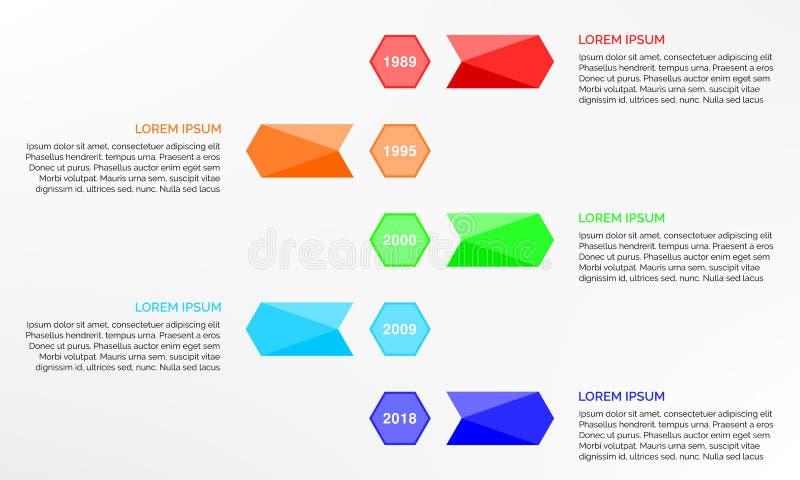 Простой дизайн infographics срока иллюстрация штока