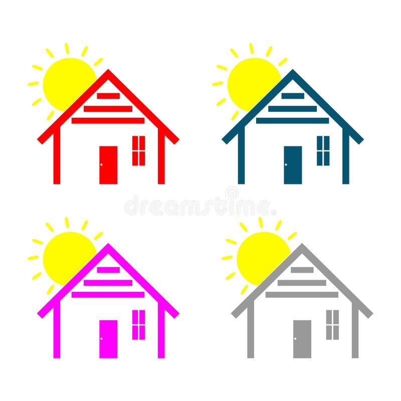 Простой домашний логотип иллюстрация вектора