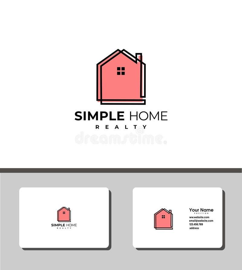 Простой домашний сладкий домашний логотип бесплатная иллюстрация