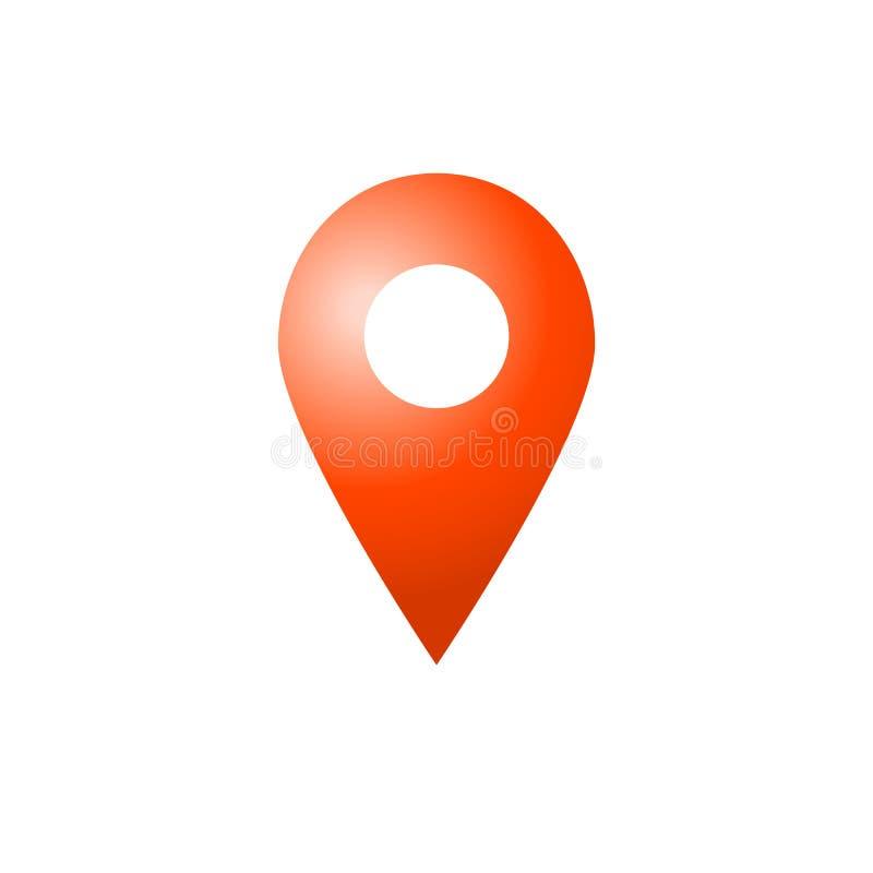 Простой значок указателя места карты иллюстрация штока