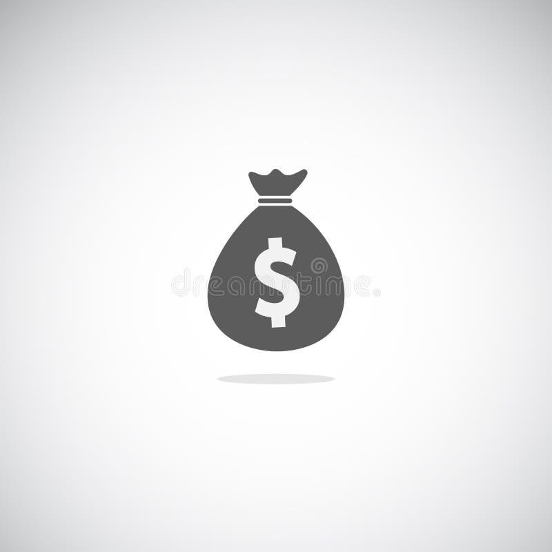 Простой значок moneybag иллюстрация вектора