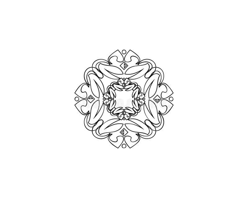Простой и грациозно шаблон дизайна вензеля, элегантная линия дизайн логотипа искусства, иллюстрация вектора иллюстрация вектора