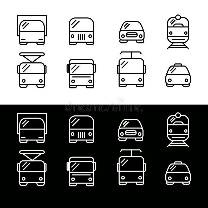 Простой комплект значков перехода стоковое изображение rf