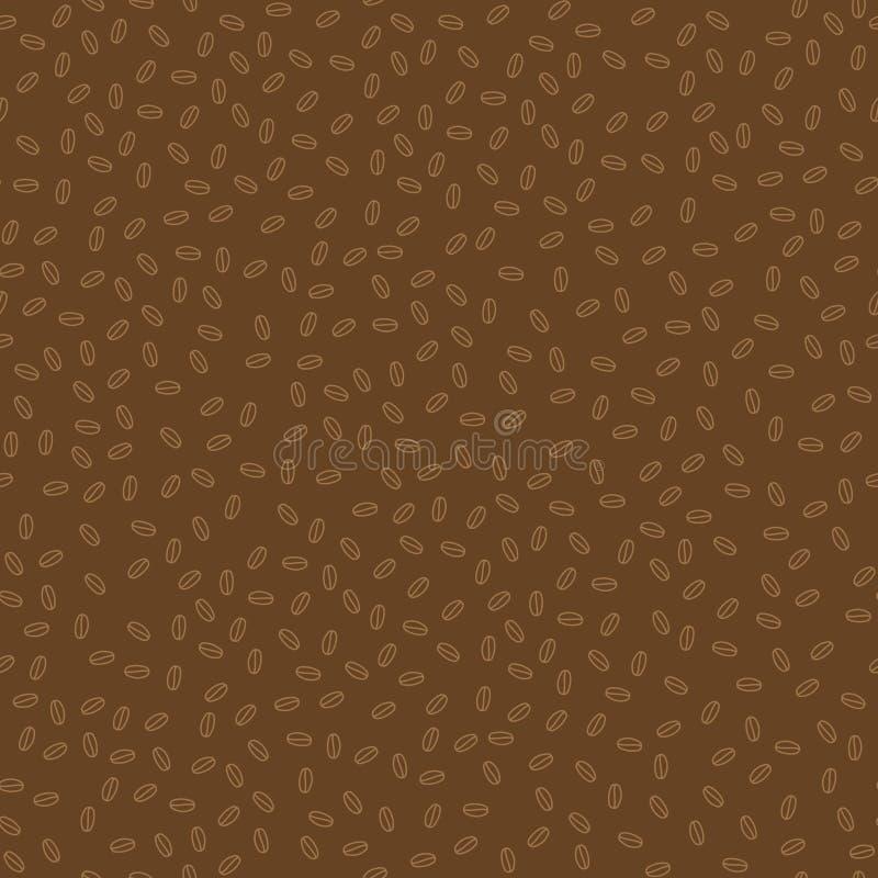 Простой небольшой коричневый цвет и бежевые кофейные зерна безшовная картина, вектор иллюстрация вектора