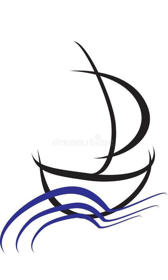 Простой логотип корабля стоковое изображение rf