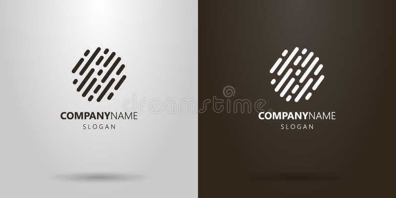 Простой округленный конспект вектора выравнивает логотип стоковые изображения rf