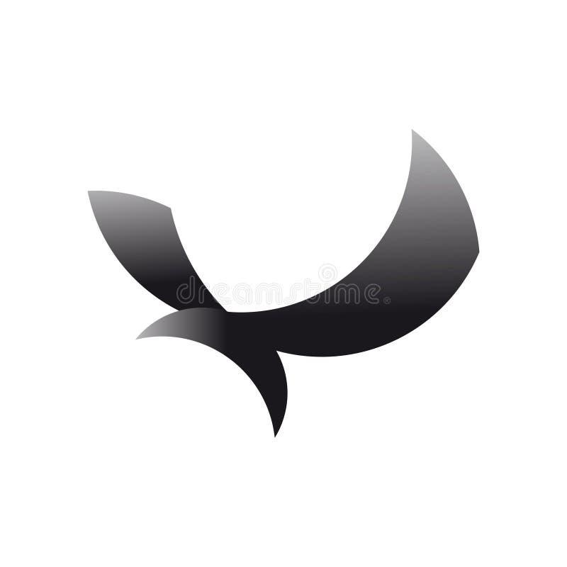 Простой орел конспекта логотипа с цветом для деловой компании стоковое фото