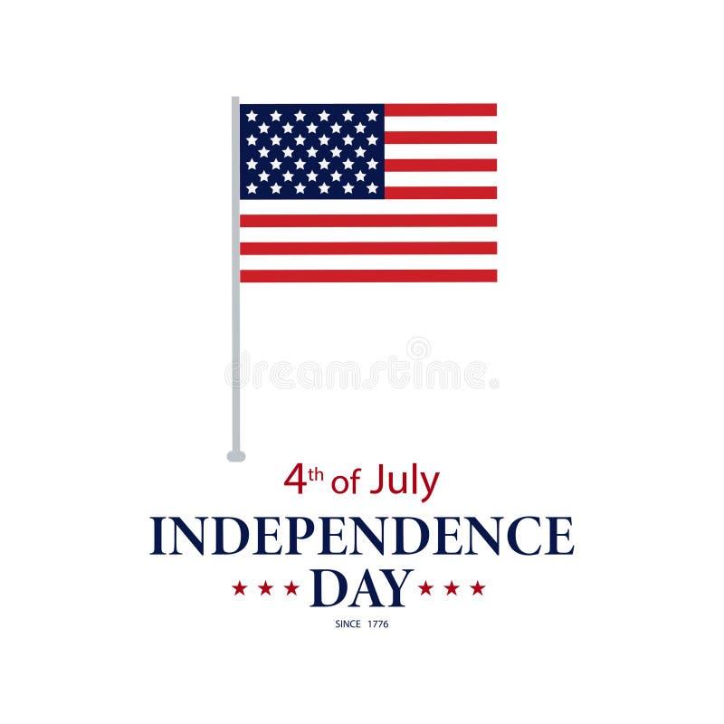 Простой плакат четвертое -го июль Четвертом -го иллюстрация в июле День независимости в Америке иллюстрация штока