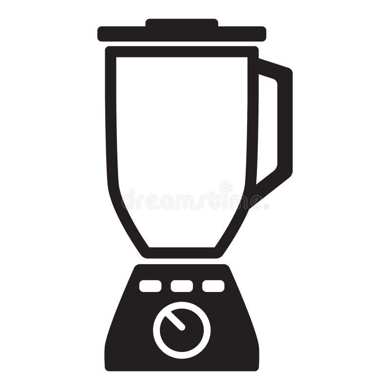 Простой, плоский, черный значок blender Изолировано на белизне иллюстрация вектора