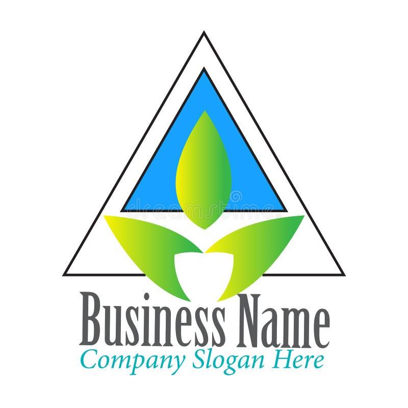 Простой современный треугольник с воодушевленностью дизайна логотипа лист иллюстрация вектора
