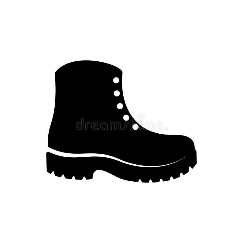 Простой черный вектор boots значок иллюстрация вектора