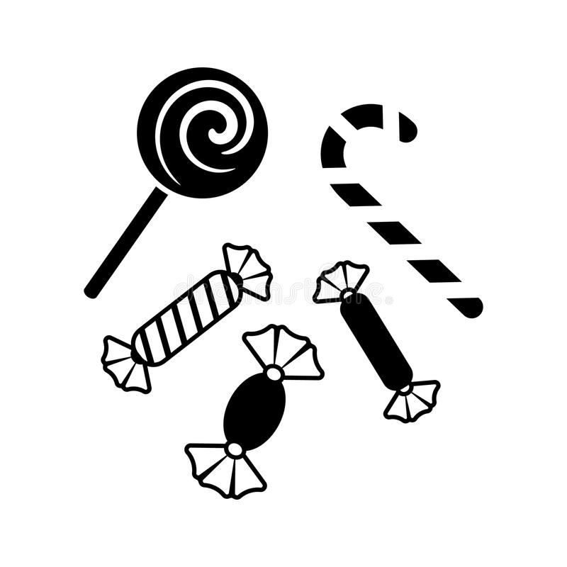 Простой черный значок помадок рождества вектора бесплатная иллюстрация