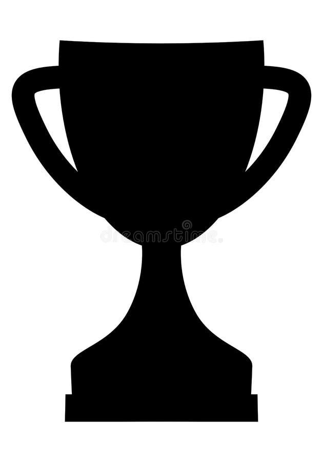Простой черный значок чашки трофея иллюстрация вектора