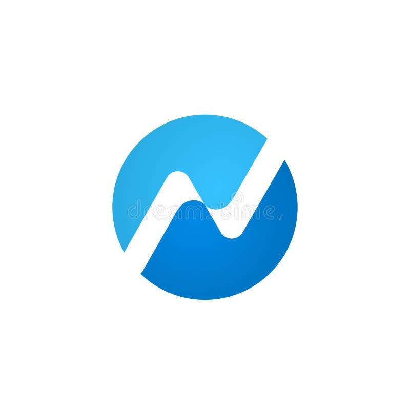 Простой шаблон дизайна логотипа письма n конспекта, illustrati вектора иллюстрация штока
