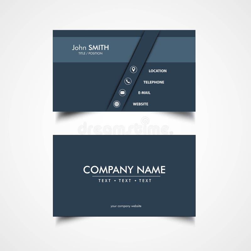 Простой шаблон визитной карточки иллюстрация штока