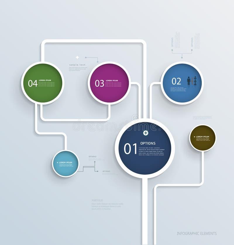 Простой шаблон дизайна элементов Infographic иллюстрация вектора