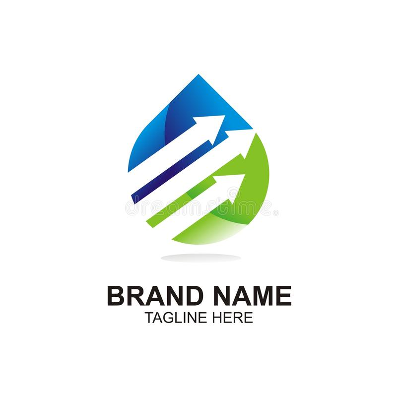 Простой элемент воды логотипа, editable польза вектора и вектора цвета editable и цвета editable, eazy и масштабируемый стоковая фотография rf
