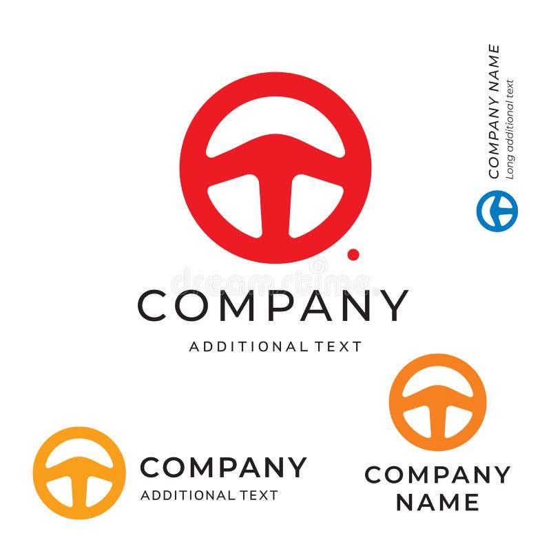 Простой эмблемы логотипа формы рулевого колеса современный шаблон и чистой концепции символа значка бренда идентичности гонки уст стоковые изображения