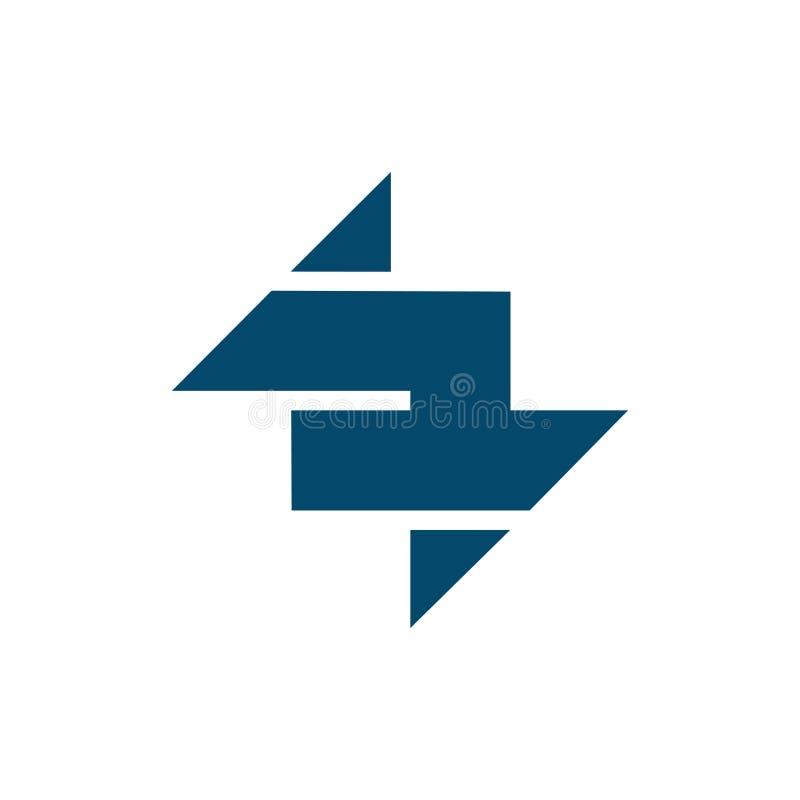 Простой ясный соединенный логотип стрелки иллюстрация штока