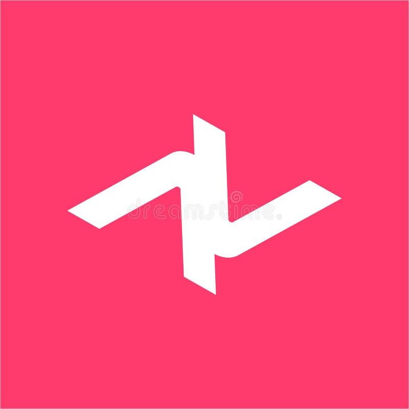 Простой AV, VV, ANV, логотип вектора компании инициалов VNV иллюстрация штока