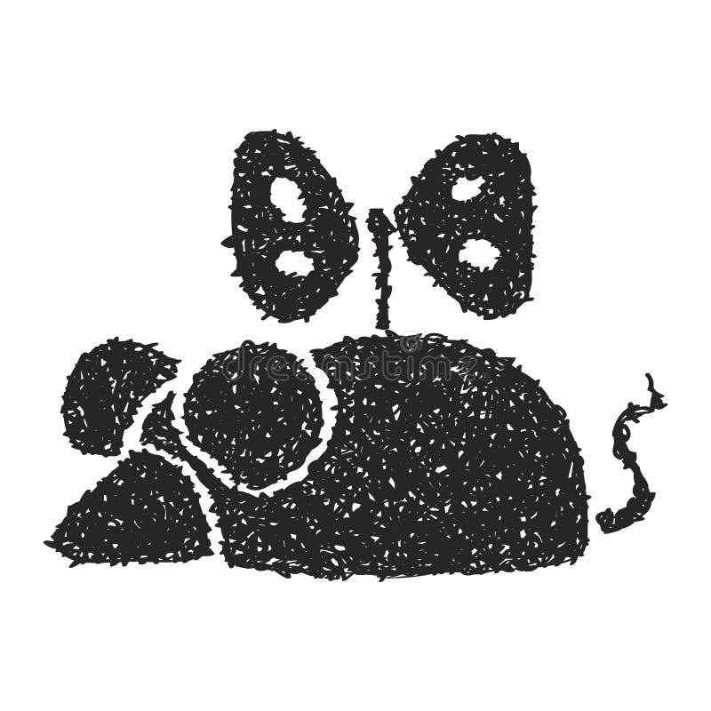Простой doodle мыши clockwork иллюстрация штока