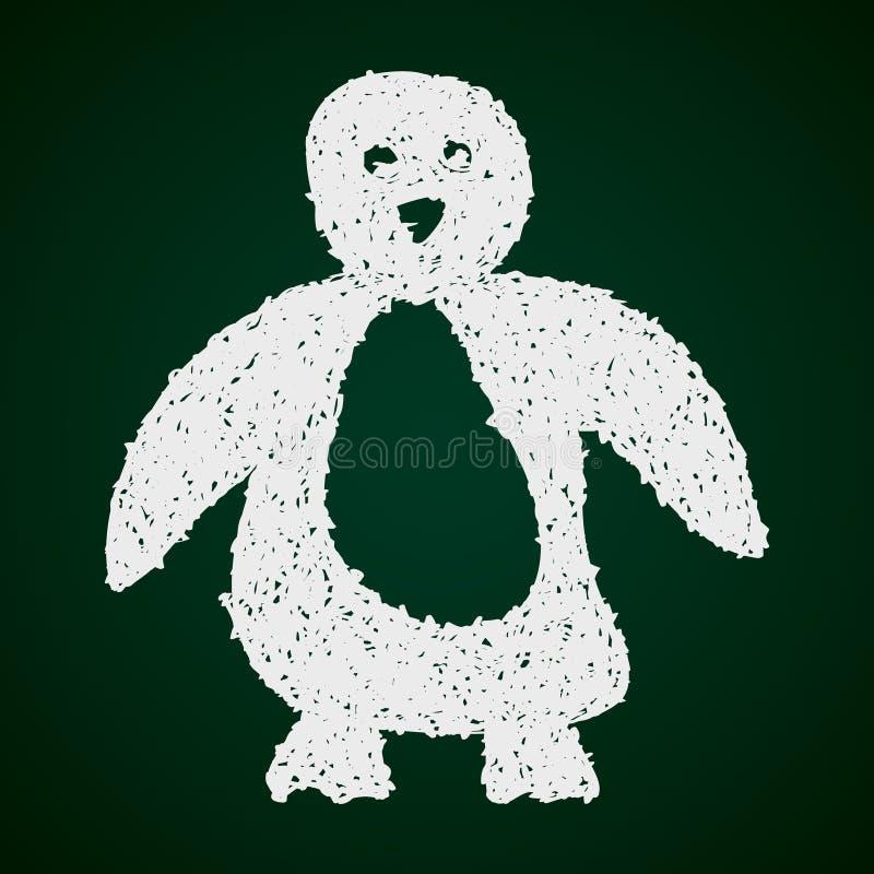 Простой doodle пингвина иллюстрация вектора
