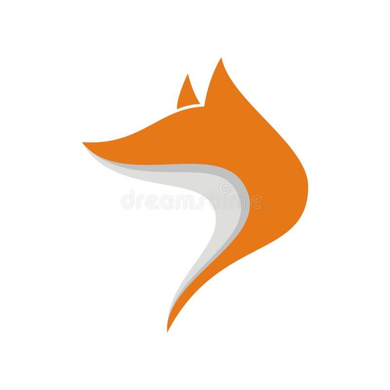 Простой Fox логотипа соответствующий для вашей компании Улучшите вашу видимость Получите профессиональный и эффективный логотип О стоковая фотография